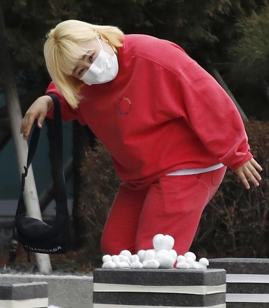 홍윤화 '눈와서 더 설레는 출근길'